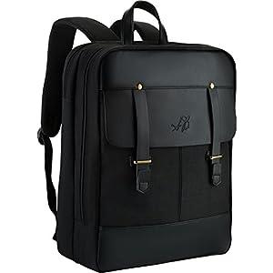 "Best Slim Laptop Backpack - 18"" Multi Compartment Computer Backpack for Men & Women - Lightweight, Ergonomic, Extra-Strength Travel Bag in Black"