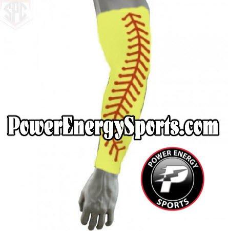 野球スポーツCompression Arm Sleeve – ソフトボールステッチ Large  B00VY1VHRY