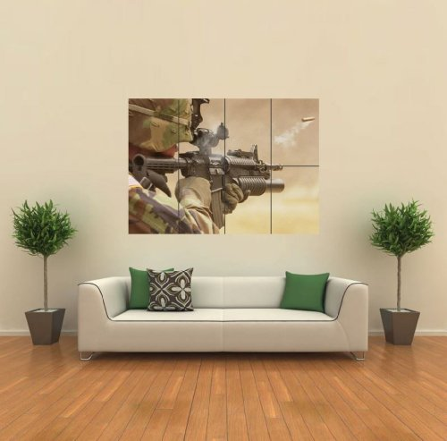 Military American Giant Wall Poster Print Picture