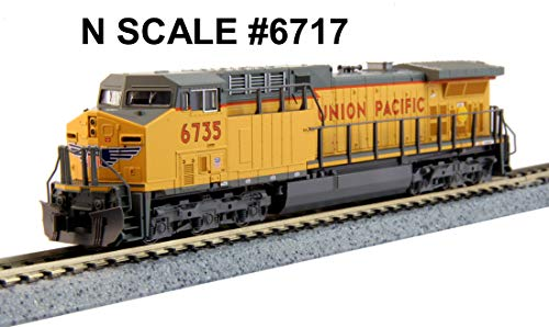 GE AC4400CW - Standard DC -- Union Pacific #6717 (Armour Yellow, gray)