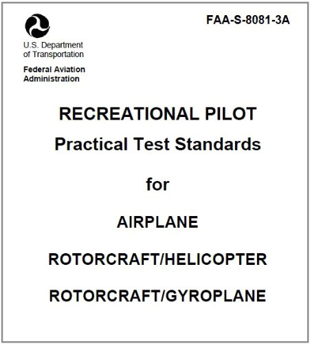 (Recreational Pilot Practical Test Standards for Airplane, Rotorcraft Helicopter, and Rotorcraft Gyroplane, Plus 500 free US military manuals and US Army field manuals when you sample this book)