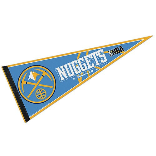 NBA Denver Nuggets WCR63832312 Carded Classic Pennant, 12