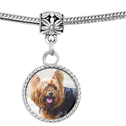[Yorkie Yorkshire Terrier Dog Puppy Charm Bracelet] (Yorkshire Terrier Jewelry)