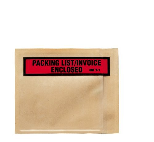T1 Business (3M Top Print Packing List Envelope PLE-T1, 4-1/2 in x 5-1/2 in (Box of 100))