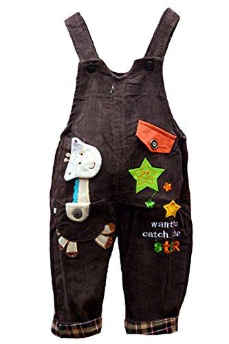 Baby Mädchen Jungen Kinder Latzhose Corduroy Jumpsuit Pant