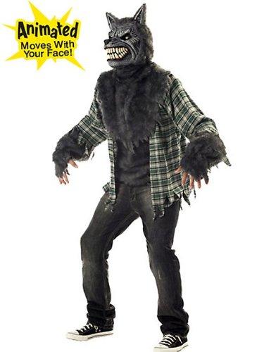California Costumes Men's Full Moon Madness Werewolf M Grey And -