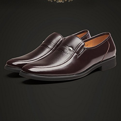 EU 44 cuir Hommes doublés PU 2018 Sole Classique en Soft Chaussures Taille respirant homme shoes Marron Mocassins Slip Chaussures Xujw Richelieus Couleur Marron on Business xBXgq4v