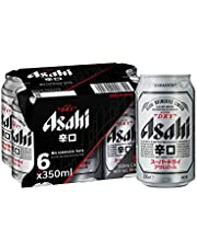 Asahi Super Dry Beer Can, 350ml, (Pack of 6)