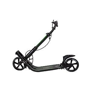Mad Wheels Big Wheel Kick Scooter Urban Master, Trottinette Adultes Pliable en 1 Second, avec Double Suspension et Frein de Guidon, pour Adultes et Enfants