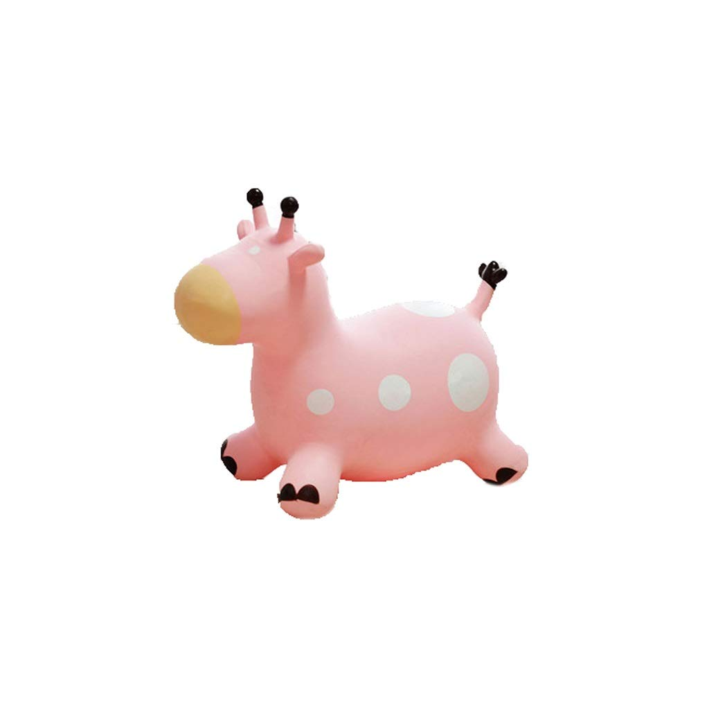 Lxrzls Space Bouncing Animal Hopper-Ride on Hopper- Inflatable Animal Bouncing Ride (Color : Pink)