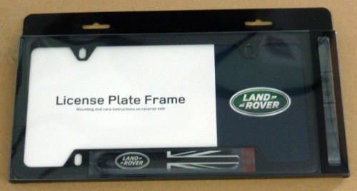 amazoncom land rover brand genuine oem stainless black license plate frame automotive