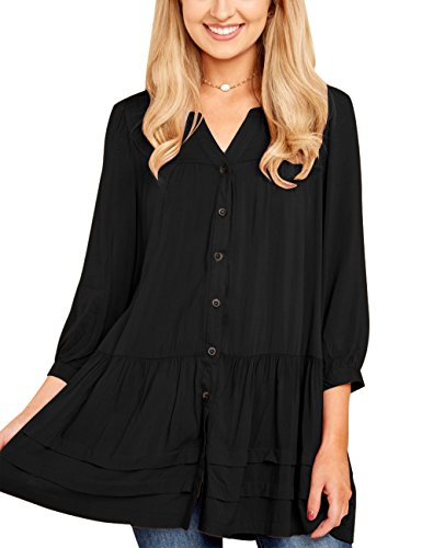 Pleated Button Front Shirt - 4