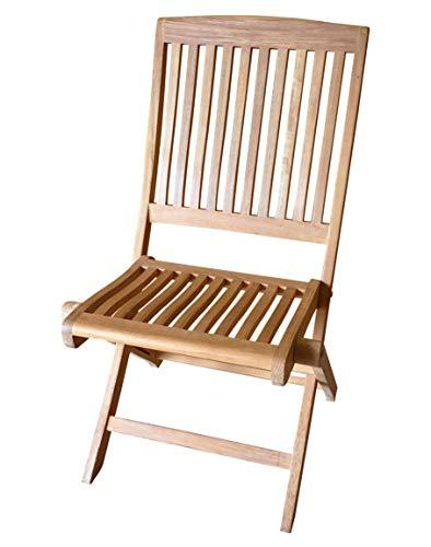 Atlanta Teak Furniture - Teak Folding Side Chair - Grade-A - armless (Teak Atlanta)