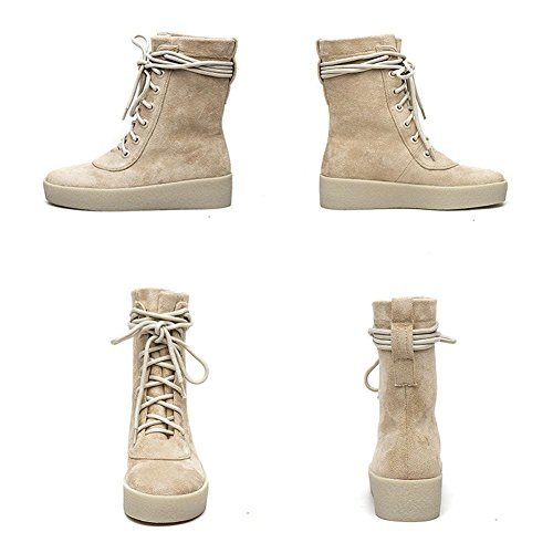 Khaki Delle Casual Scarpe Boots Short Comfort Tacco Ladies In Piatto Wdjjjnnnv Warm Pelle 38 Lacci Scamosciata 6qR7O