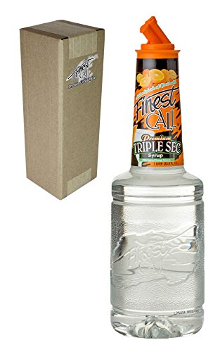 Finest Call Premium Triple Sec Syrup Drink Mix, 1 Liter Bottle (33.8 Fl Oz), Individually Boxed