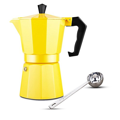 Hmlai Hot Sale 240 ML Aluminum Moka Express Made in Italy 6 Cup Stovetop Espresso Maker + One (Stovetop Espresso Set)