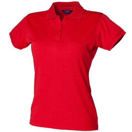 Polo forme ajustée évacuant l'humidité Henbury Coolplus® pour femme (2XL) (Bleu roi)