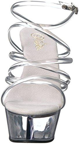 Pleaser de Transparentes 206 vestir KISS Sandalias para mujer HqwHA4Krxv