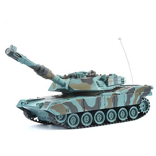 GizmoVine RC Kampfpanzer USA M1A2 1:28 Maßstab - Ferngesteuertes Panzer Spielzeug Tank für Kinder, Jungs 27Mhz - Tarnung