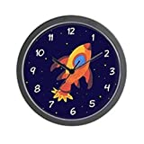 """CafePress - Rocket Ship In Outer Space Wall Clock - Unique Decorative 10"""" Wall Clock"""