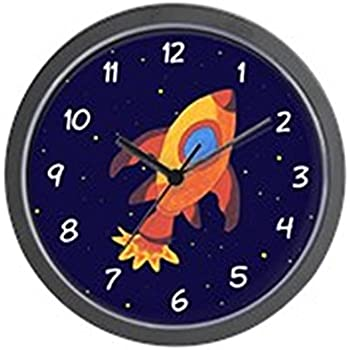 CafePress - Rocket Ship In Outer Space Wall Clock - Unique Decorative 10