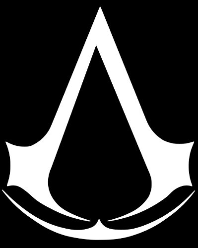 Assassin's Creed Sticker Decal Vinyl (8''x6'', White)