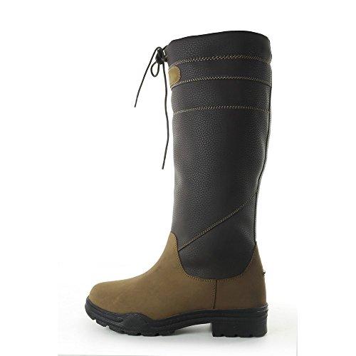 Brogini Unisex Stivali Derbyshire In Pelle Di Vitello Per Adulti Marrone