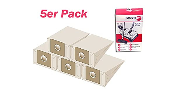 Fagor Papel bolsas de aspiradora RA de 305 compatible con muchos ...
