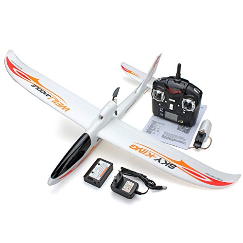 [Wltoys F959 Sky King 2.4g 3ch 750mm Wingspan Rc Airplane with Led RTF and Camera] (Park Flyers Cessna 182)