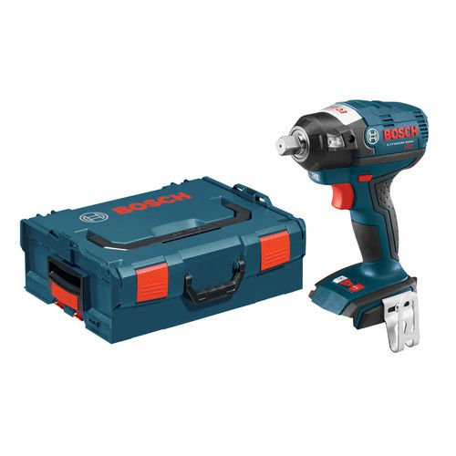 Bosch IWBH182BLRT 18V Cordless Lithium-Ion 1/2 in. Pin Detent Brushless Impact Wrench (Bare Tool) with L-BOXX 2 Case & ExactFit Insert Tray (Certified Refurbished) (Refurbished Tray)