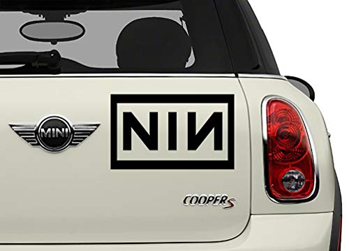 Nine Inch Nails Stickers - NIN Black Bands Automotive Decal/Bumper