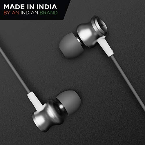 Boat Bassheads 152: Made in India in Ear Wired Earphones with Mic(White Purity)
