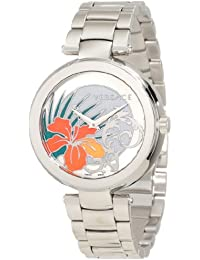 Women's I9Q99D1HI S099 Mystique Stainless Steel White Silver Sunray Dial Watch