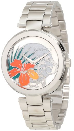 Versace-Womens-I9Q99D1HI-S099-Mystique-Stainless-Steel-White-Silver-Sunray-Dial-Watch