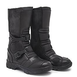 Royal Enfield Black Leather Riding Shoes for Men Size EU 42 / UK 8 (RRGBOH000011)