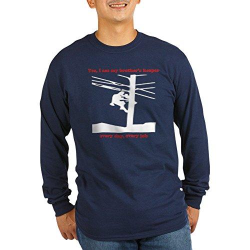 CafePress Yes I Am My Brother's Keeper LNG Sleeve Dark Shirt Unisex Cotton Long Sleeve T-Shirt Navy