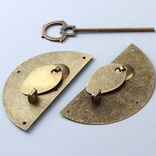 DearAnswer Vintage Round Furniture Handle Door Knocking Knocker Pull Lock Catch Home Supplies by DearAnswer (Image #2)