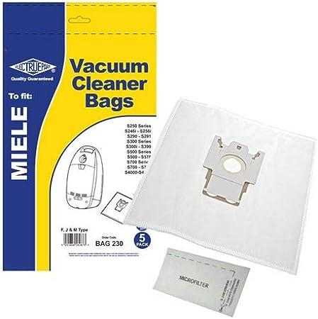 Electruepart Dust Bags For Miele S380 Series Vacuum Cleaners 5 Pack