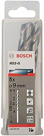 Bosch 2608595049 Foret /à m/étaux HSS-G standard DIN 338 /Ø 1 mm 10 pi/èces