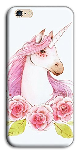 Mixroom - Cover Custodia Case In TPU Silicone Morbida Per Apple Iphone SE M3523 Unicorno Con Criniera Rosa