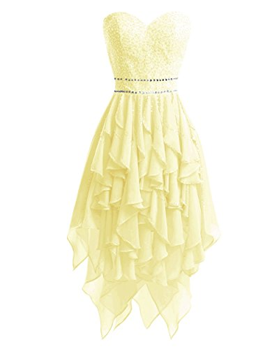 Homecoming Low Dresses Daffodil Prom Women's Beaded Short Bess Dress High Bridal q1BF8F
