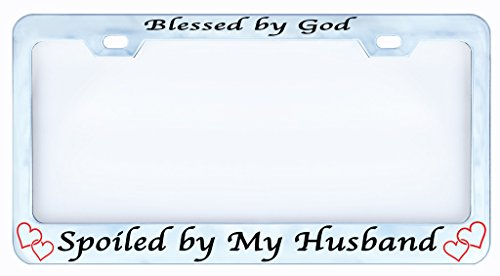 Blessed Spoiled Husband License Religious product image