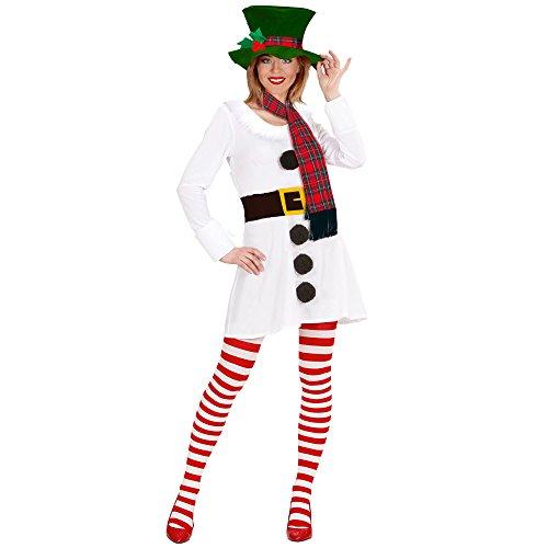 Ladies Miss Snowman Costume Large Uk 42/44