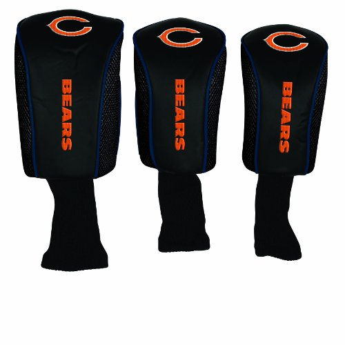 NFL Chicago Bears 3 Pack Mesh Longneck Headcover Set, Outdoor Stuffs