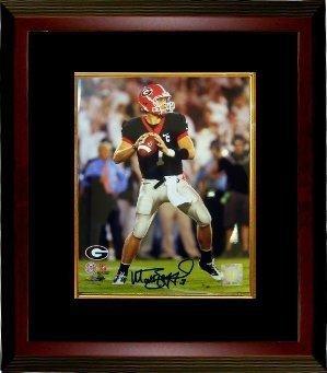 Matthew Stafford Signed Autograph Georgia Bulldogs 8x10 Photo Framed Photo - Stafford Hologram - Georgia Bulldogs 8x10 Photo