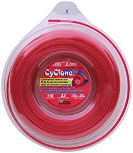 Cyclone .105-Inch-by-110-Foot Spool Commercial Grade 6-Blade 1/2-Pound Grass Trimmer Line, Red CY105D1/2-12 Outdoor, Home, Garden, Supply, Maintenance