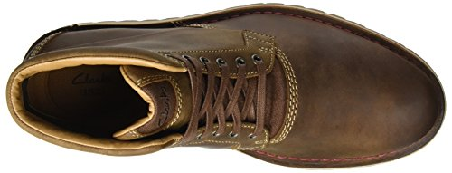 Clarks Mens Stivali Classici Top Varby Marrone (pelle Color Cuoio)
