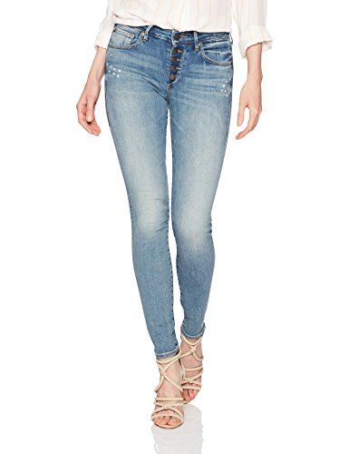 True Religion Women's Jennie Mid Rise Curvy Skinny Jean, Ojai Fields, 32