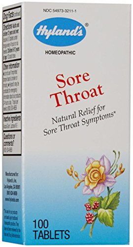 Hyland's Sore Throat Tabs-100 ct (Homeopathic Medicine Sore Throat)