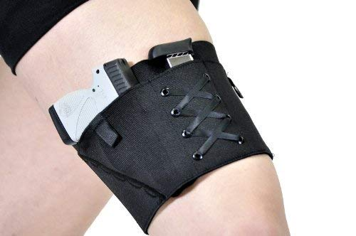 Can Can Concealment Garter Classic Woman's Holster - Black -